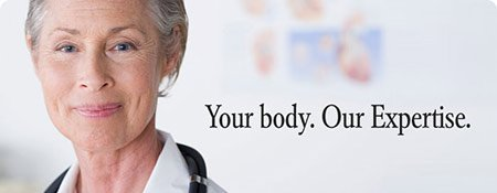 Your Body, Our Expertise tag line